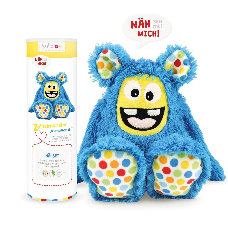 "Kullaloo Nähset Zottel-Monster ""MemoMonsti"", blau"