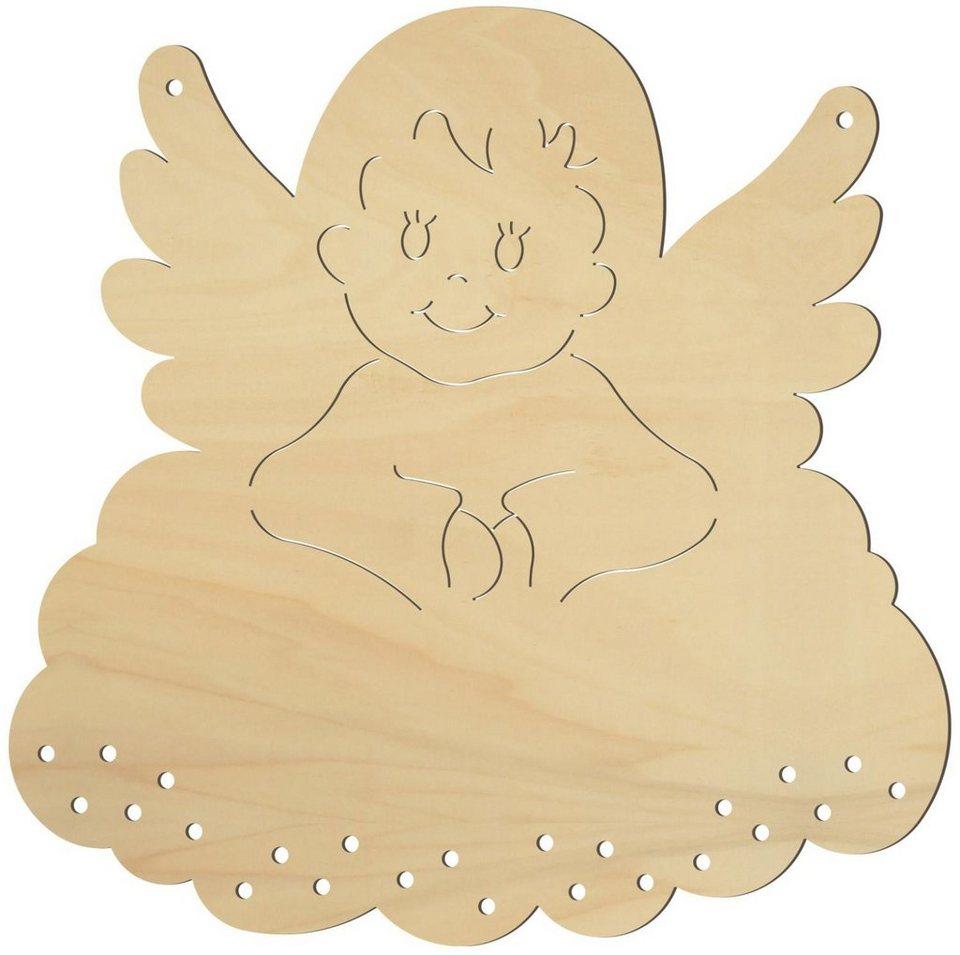 Holz Adventskalender Engel Weihnachten