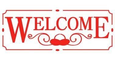 "Stamperia Schablone ""Welcome"" 38x15 cm"