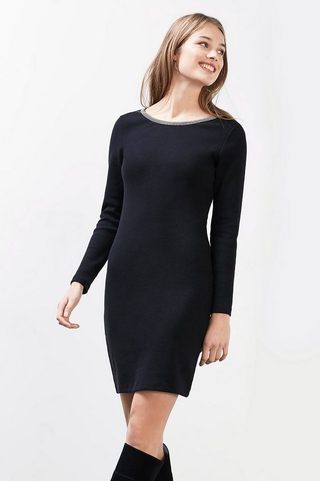 EDC Glam Kleid aus Stretch-Jersey in BLACK