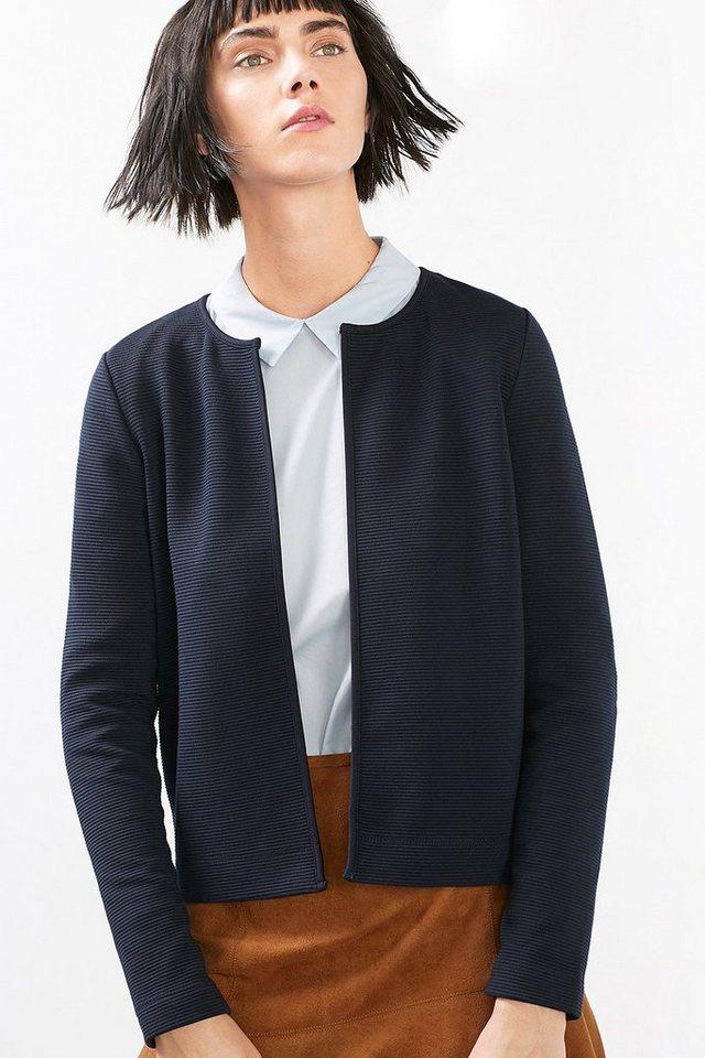 ESPRIT CASUAL Cardigan-Style Strick-Blazer in NAVY