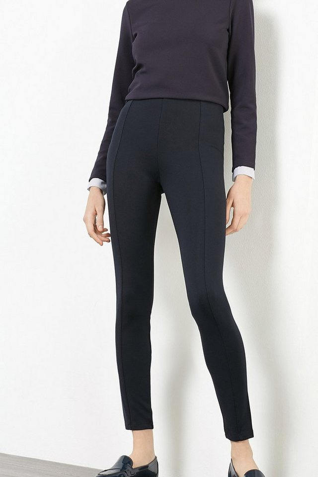 ESPRIT CASUAL Figurformende Hose aus Winterjersey in NAVY