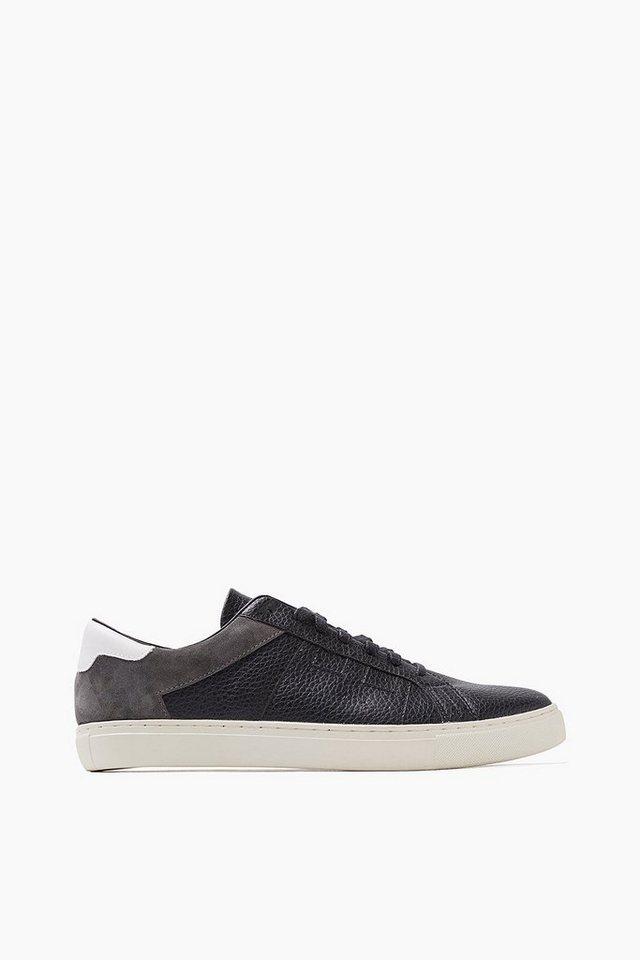 ESPRIT CASUAL Material-Mix-Sneaker in BLACK