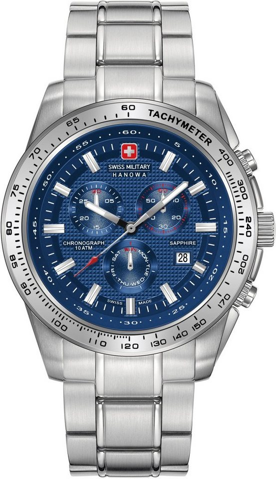 Swiss Military Hanowa Chronograph »CRUSADER CHRONO, 6-5225.04.003« in silberfarben