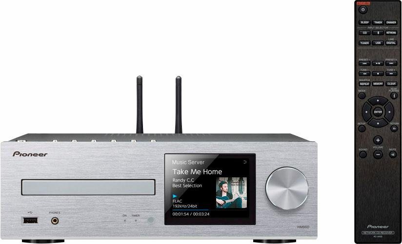Pioneer XC-HM86D Microanlage, Hi-Res, Deezer/Spotify, Airplay, Bluetooth, WLAN, Digitalradio (DAB+) in silberfarben