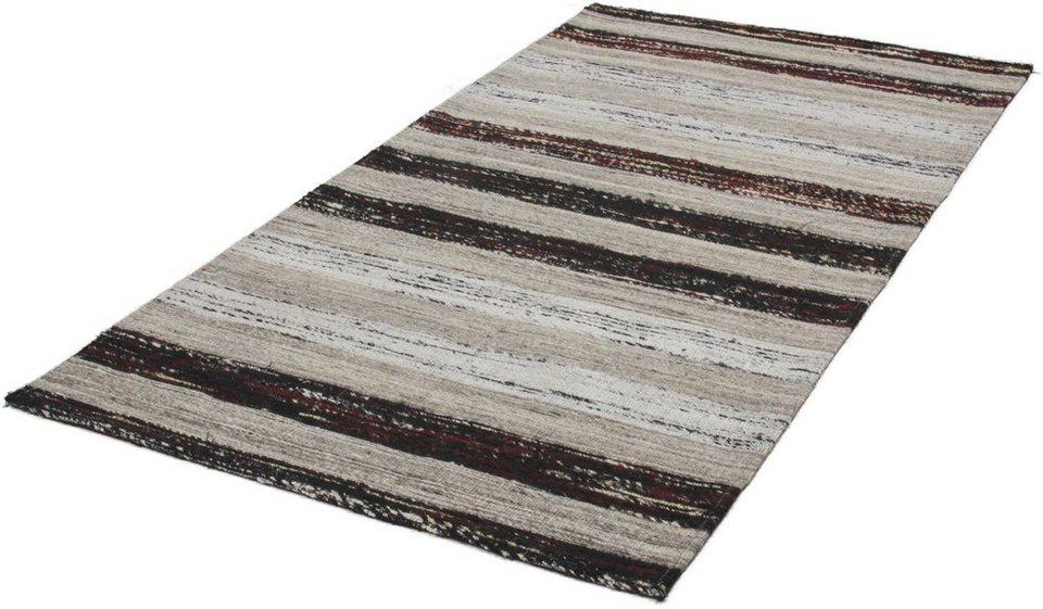 Teppich, Kayoom, »Duarte 210«, handgewebt in schwarz-weiss