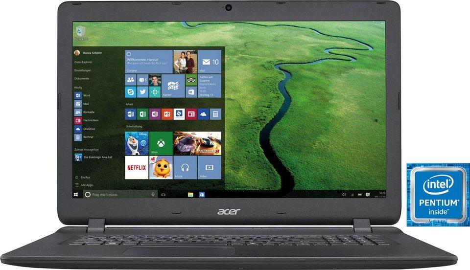 Acer ES1-732-P Notebook, Intel® Pentium™, 43,9 cm (17,3 Zoll), 1000 GB Speicher, 8192 MB DDR3L in schwarz