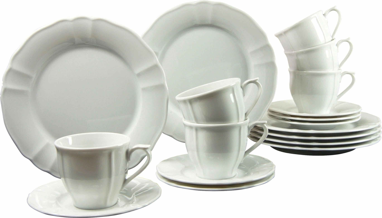 CreaTable Kaffeeservice, Porzellan, »Flora« (18-teilig)