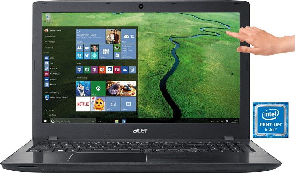 Acer E5-575T-P5D6 Notebook, Intel® Pentium™, 39,6 cm (15,6 Zoll), 1000 GB Speicher, 4096 MB DDR4-RAM in schwarz