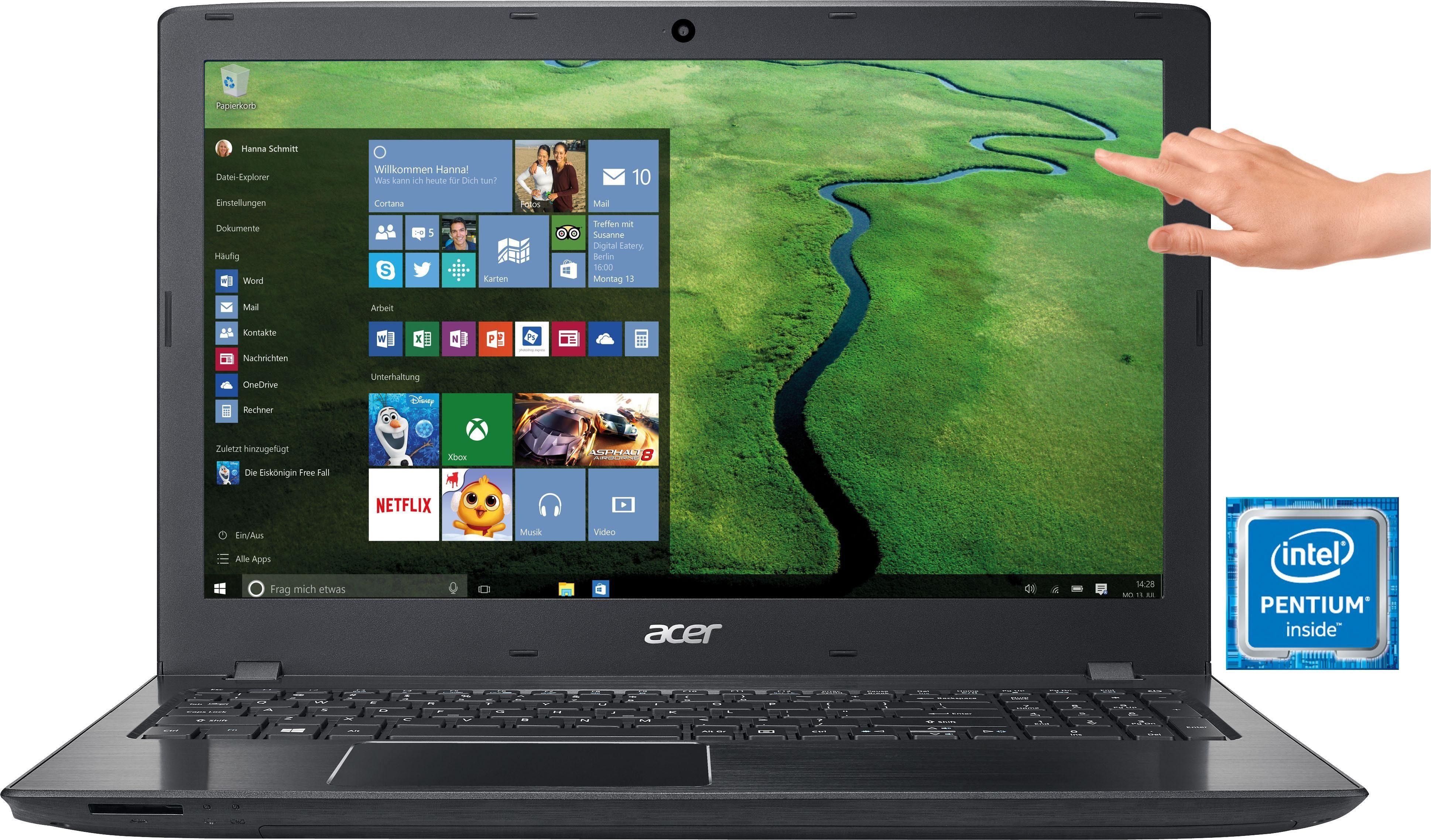 Acer E5-575T-P5D6 Notebook, Intel® Pentium™, 39,6 cm (15,6 Zoll), 1000 GB Speicher, 4096 MB DDR4-RAM