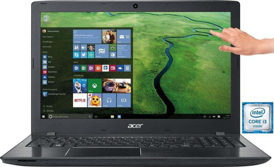 Acer E5-575T-35A3 Notebook, Intel® Core™ i3, 39,6 cm (15,6 Zoll), 1000 GB Speicher, 8192 MB DDR4-RAM in schwarz