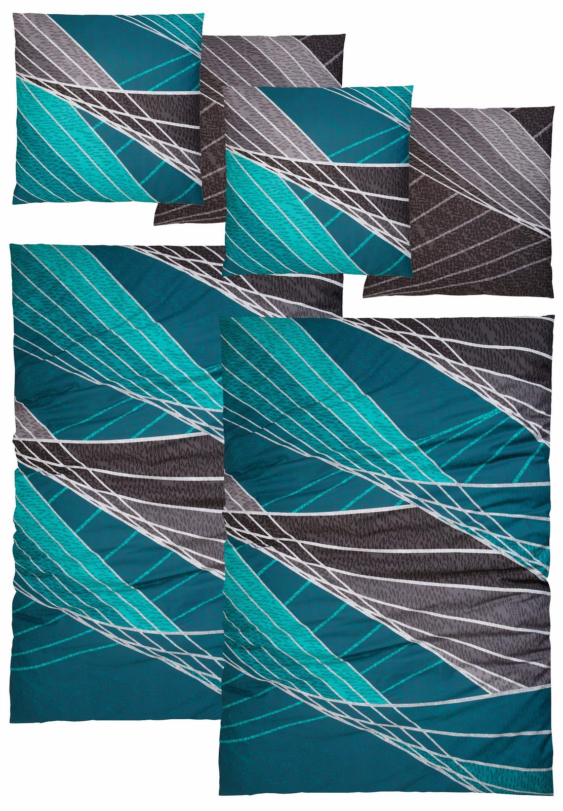 Bettwäsche »Pablo«, Auro Hometextile, mit modernen Gittern - broschei