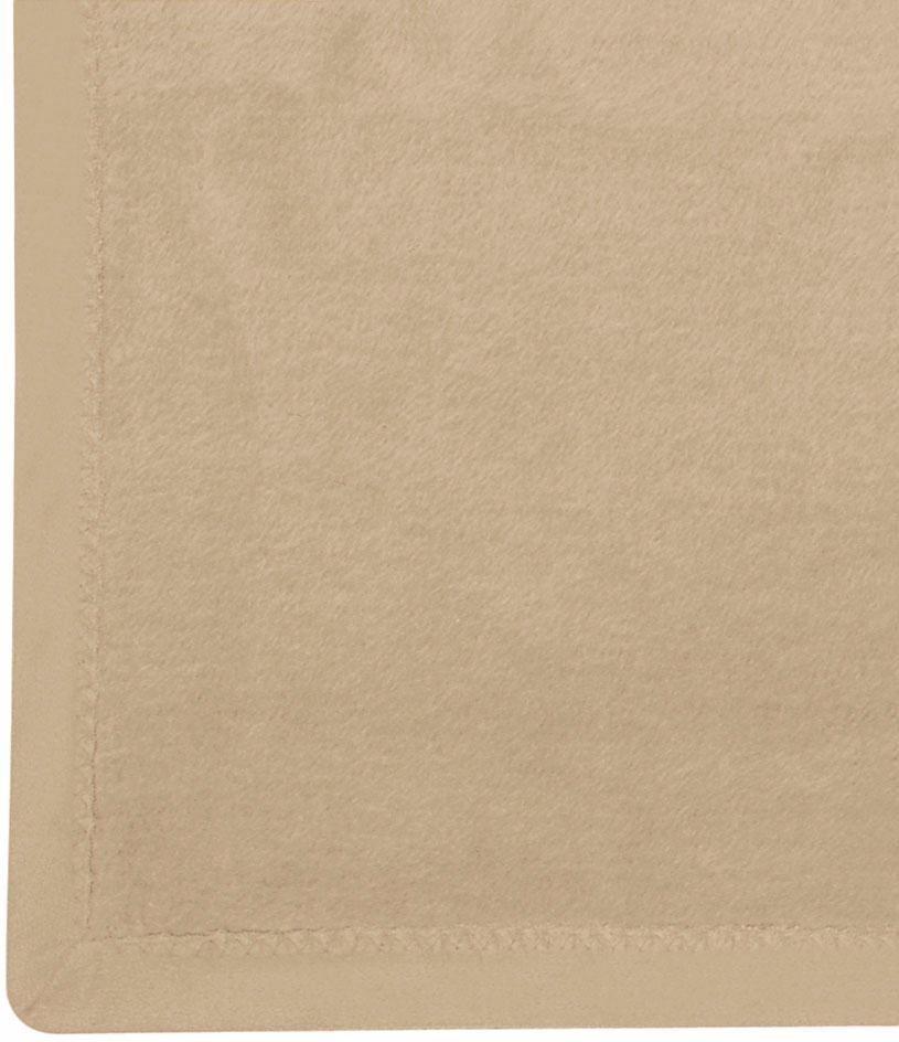 Wohndecke, Ibena, »Solare Organic Cotton«, unifarben in beige