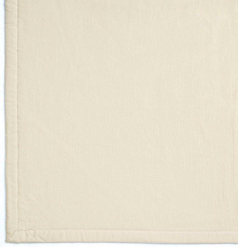 Wohndecke, Ibena, »Solare Organic Cotton«, unifarben in ecru