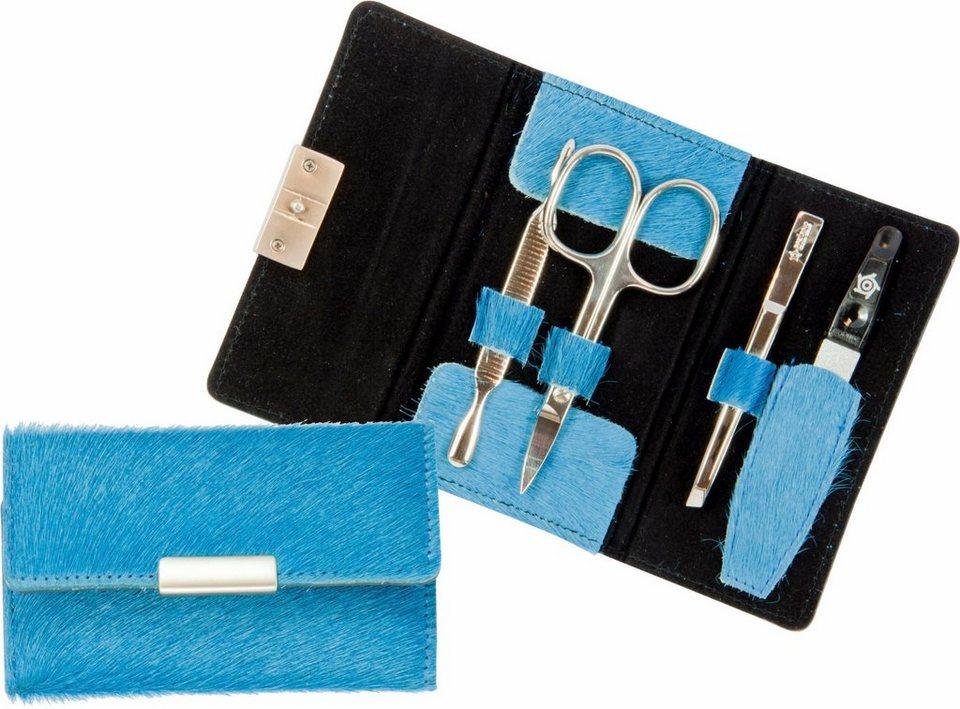 Pfeilring, »Kuhfell«, Maniküre-Etui, 4-tlg. in blau