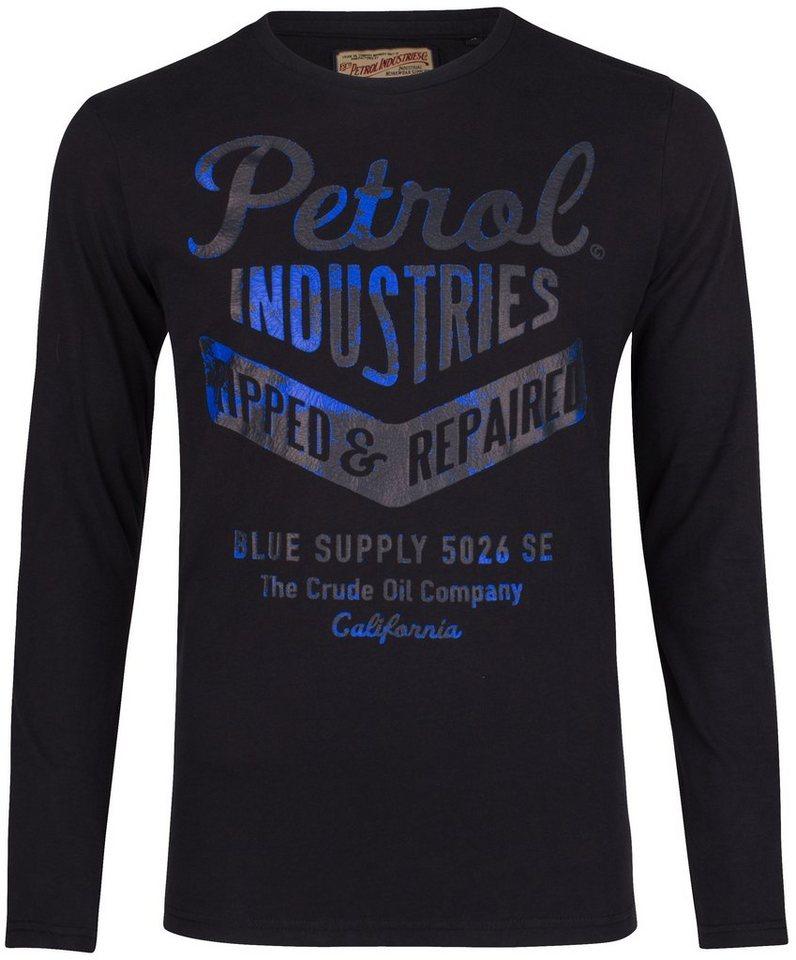 Petrol Industries Langarmshirt in black