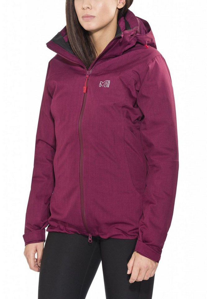 Millet Outdoorjacke »LD Cross Mountain 3in1 Jacket Women« in pink