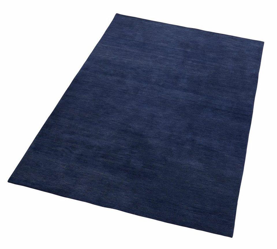 Designer-Teppich, GMK Home & Living, »Indira«, reine Schurwolle, handgetuftet in blau