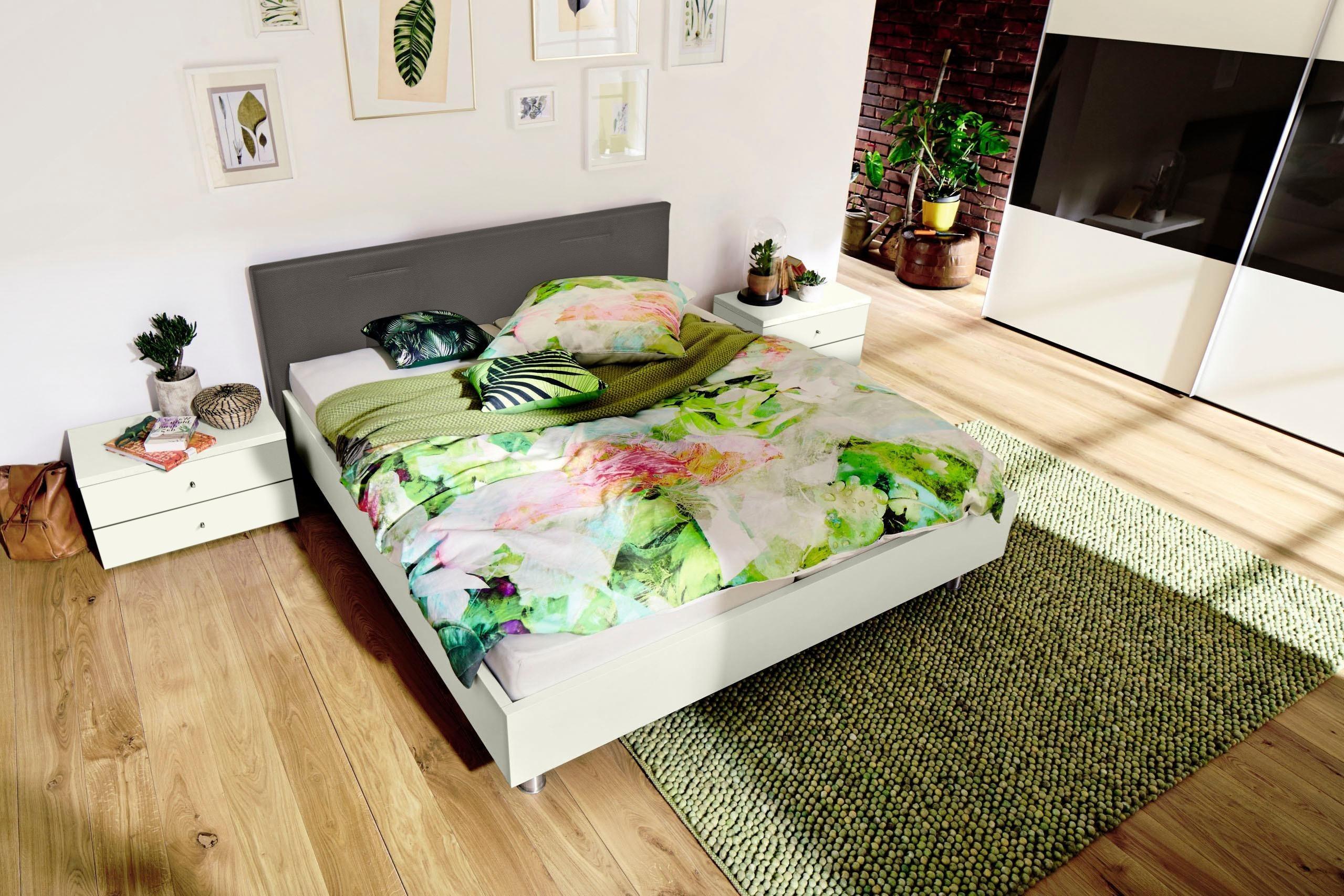now! by hülsta Bett »now! time« mit Kopfteil in Kunstleder, inklusive zwei passenden Konsolen thumbnail