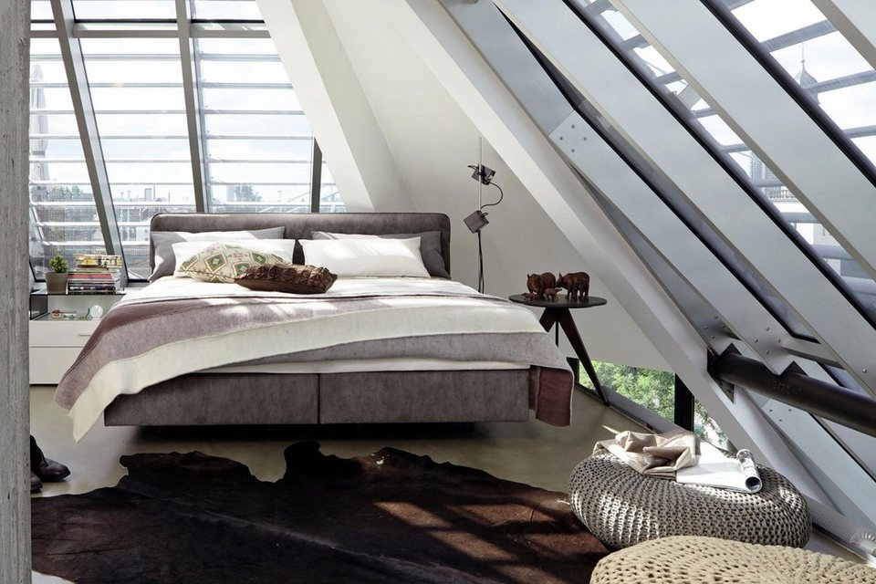 now by h lsta boxspringbett b mit keder im kopfteil kunstleder vintage online kaufen otto. Black Bedroom Furniture Sets. Home Design Ideas