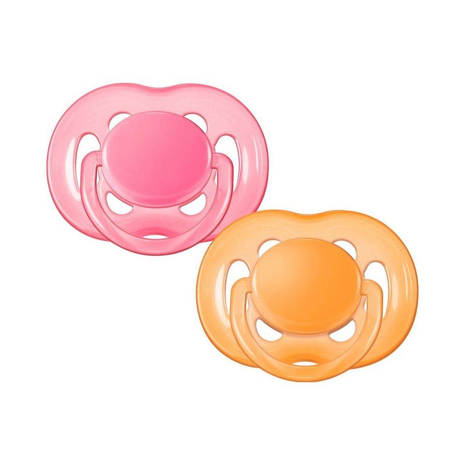 Philips AVENT Schnuller, SCF178/28, Freeflow, 6-18 Monate in pink