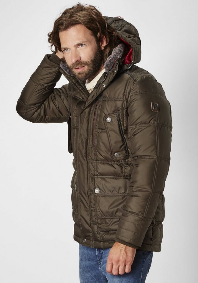 Redpoint sportive gesteppte Parka-Style »Russel« in khaki