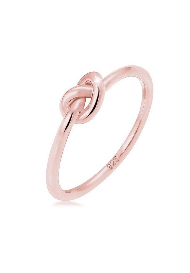 Elli Ring »Trend Knoten 925 Silber rosé vergoldet« in Rosegold