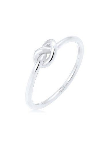 Elli Ring »Knoten Verknotet Trend Basic 925 Silber«