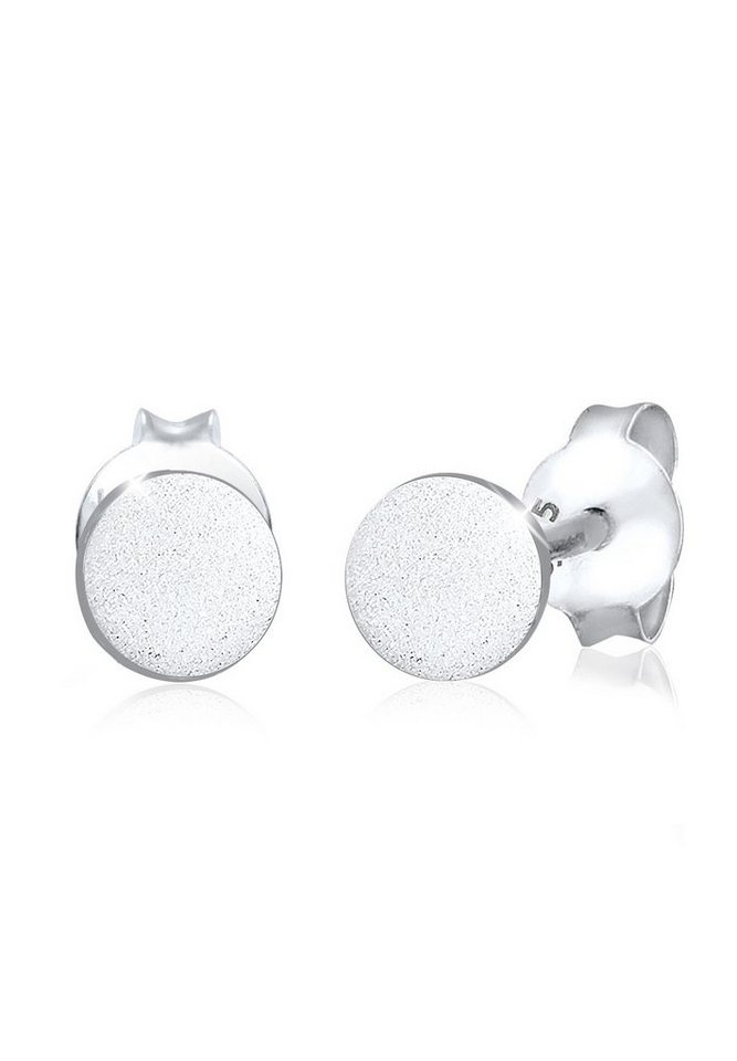 Elli Ohrringe »Kreis Geo mattiert Filigran 925 Silber« in Silber