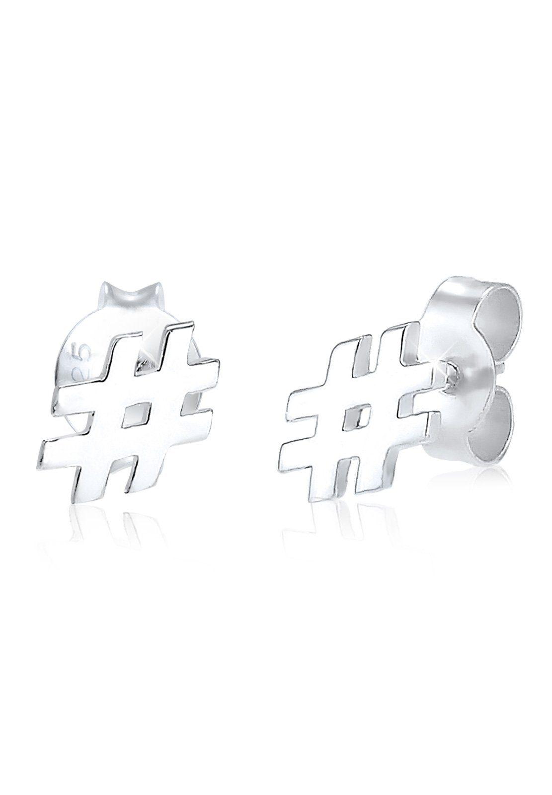 Elli Ohrringe »Hashtag Raute Icon Fashionista 925 Silber«