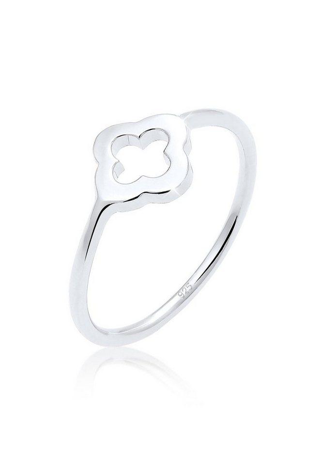 Elli Ring »Kleeblatt Glücksbringer Luck 925 Silber« in Silber