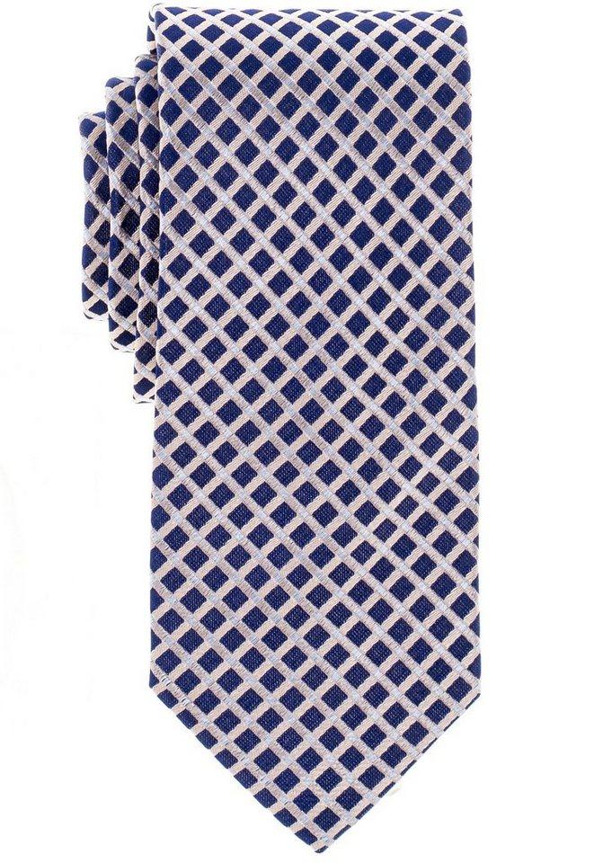 ETERNA Krawatte »breit« in orange kariert