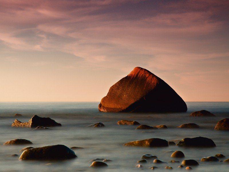 Artland Poster oder Leinwandbild »Landschaften Küste Fotografie Braun« in Braun