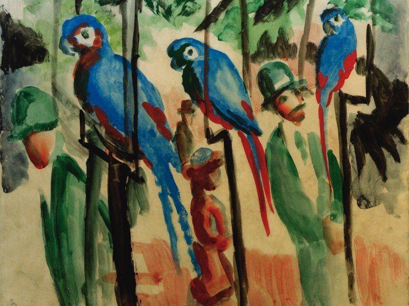 Artland Poster oder Leinwandbild »Tiere Vögel Malerei Bunt« in Bunt