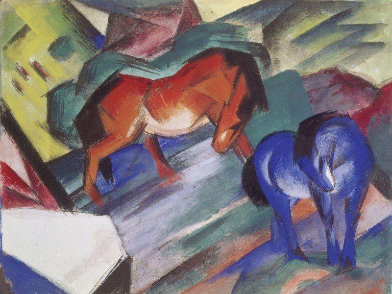 Artland Poster oder Leinwandbild »Tiere Haustiere Pferd Malerei Bunt« in Bunt