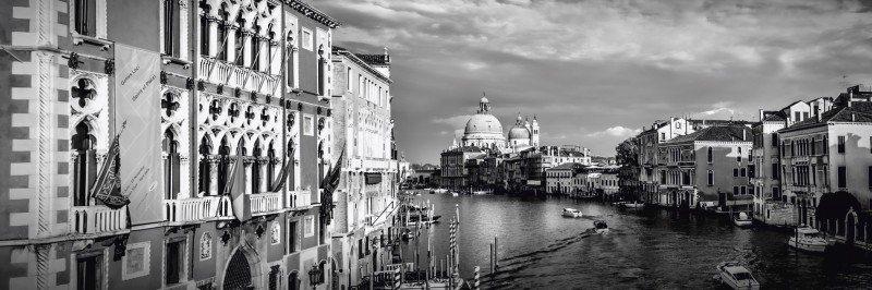 Artland Poster oder Leinwandbild »Städte Italien Venedig Fotografie Schwarz/Weiß« in Schwarz/Weiß
