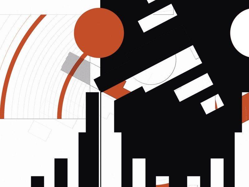 Artland Poster oder Leinwandbild »Abstrakt Muster geometrisch Digitale Kunst s/w« in Schwarz/Weiß