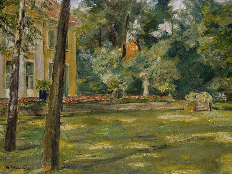 Artland Poster oder Leinwandbild »Landschaften Garten Malerei Grün« in Grün