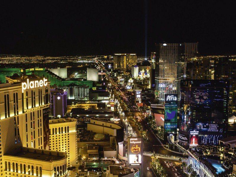 Artland Poster oder Leinwandbild »Städte Amerika Las Vegas Fotografie Schwarz« in Schwarz