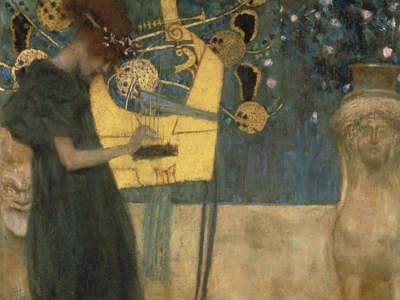 Artland Poster oder Leinwandbild »Musik Musiker Malerei Blau« in Blau