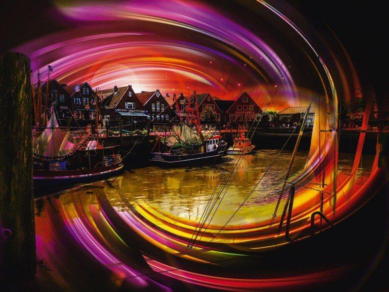 Artland Poster oder Leinwandbild »Städte Deutschland Digitale Kunst Bunt« in Bunt