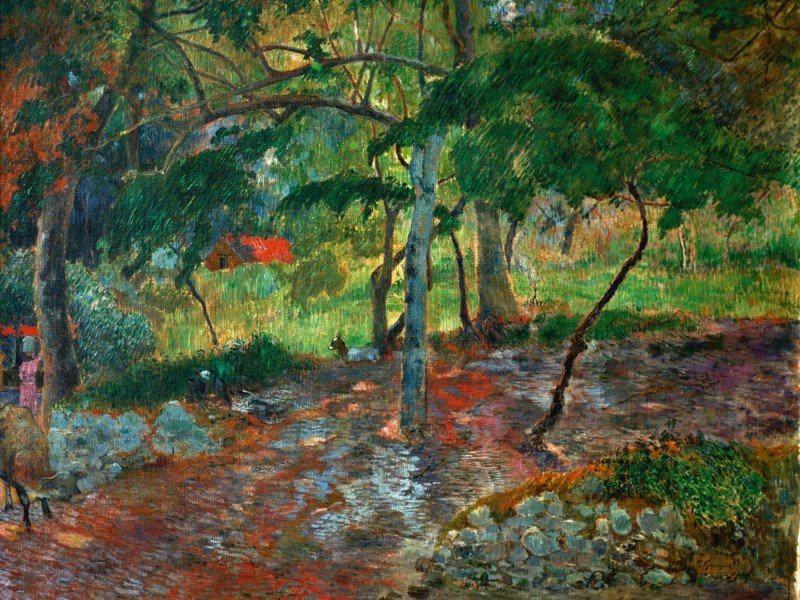 Artland Poster oder Leinwandbild »Landschaften Wald Malerei Grün« in Grün