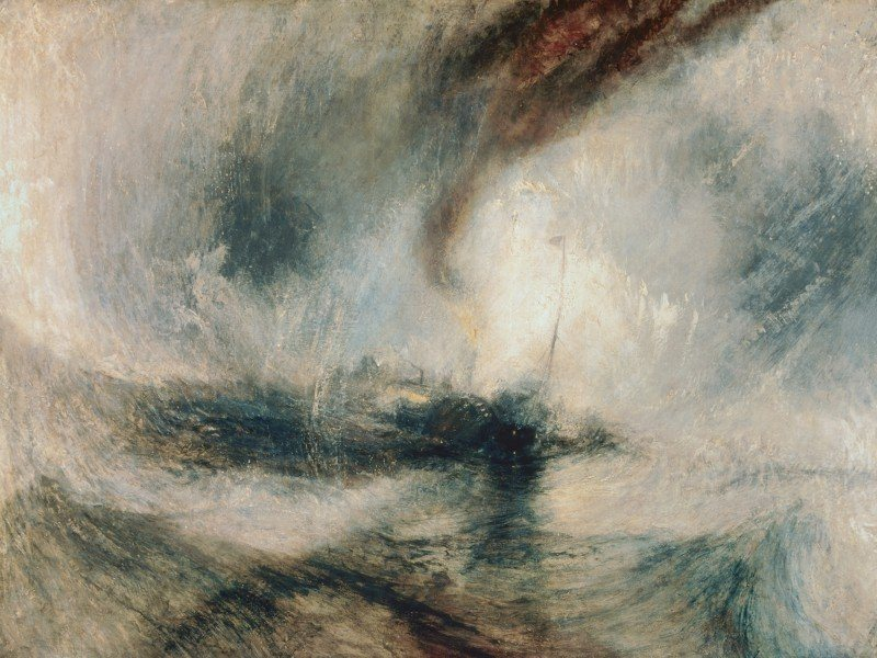 Artland Poster oder Leinwandbild »Landschaften Gewässer Meer Malerei Creme« in Creme