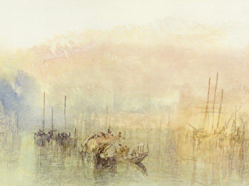 Artland Poster oder Leinwandbild »Landschaften Gewässer Malerei Gelb« in Gelb
