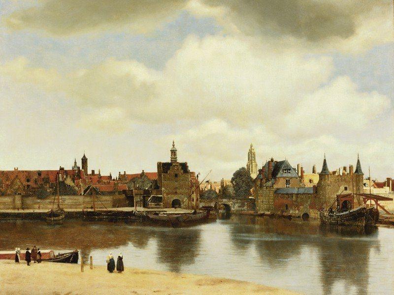 Artland Poster oder Leinwandbild »Städte Niederlande Malerei Braun« in Braun