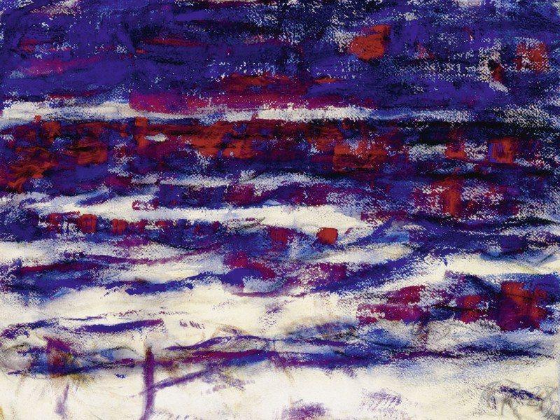 Artland Poster oder Leinwandbild »Abstrakte Motive Muster Malerei Blau« in Blau