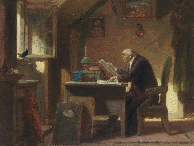 Artland Poster oder Leinwandbild »Menschen Mann Malerei Braun« in Braun