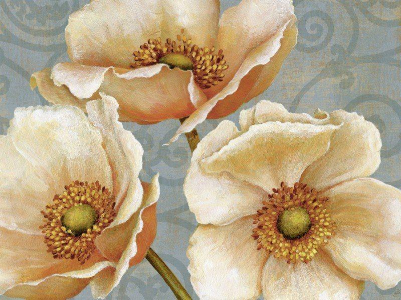 Artland Poster oder Leinwandbild »Botanik Blumen Malerei Braun« in Braun