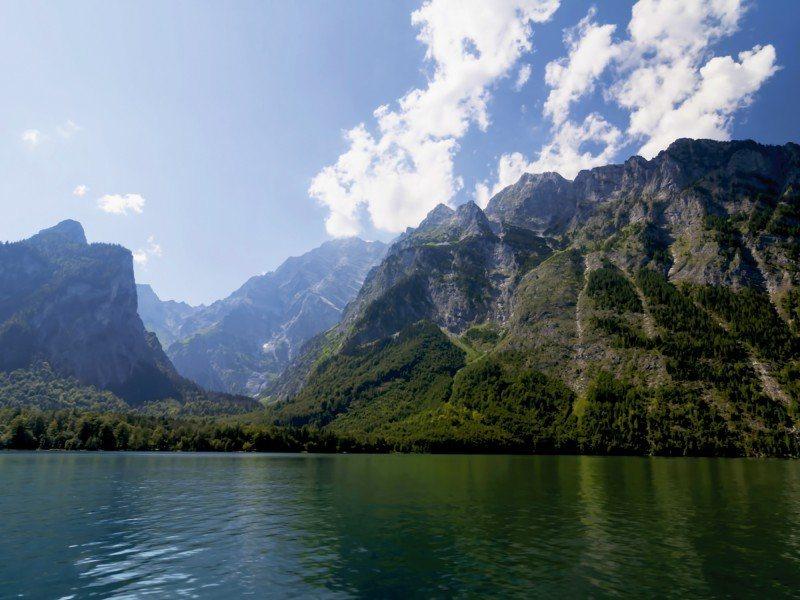 Artland Poster oder Leinwandbild »Landschaften Berge Fotografie Blau« in Blau