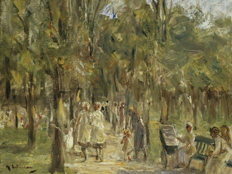 Artland Poster oder Leinwandbild »Menschen Gruppen & Familien Malerei Grün« in Grün